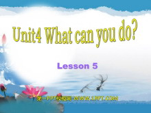 《What can you do?》PPT课件7