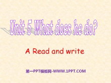 《What does he do?》PPT课件22