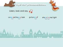 《Ways to go to school》tips for pronunciation Flash动画课件