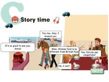 《Ways to go to school》story time Flash动画课件