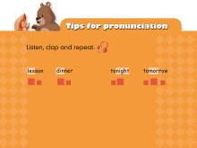 《My weekend plan》tips for pronunciation Flash动画课件