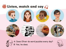 《I have a pen pal》listen match and say Flash动画课件
