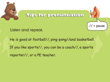《What does he do?》tips for pronunciation Flash动画课件