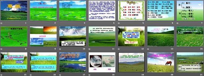 《草原》PPT课件12