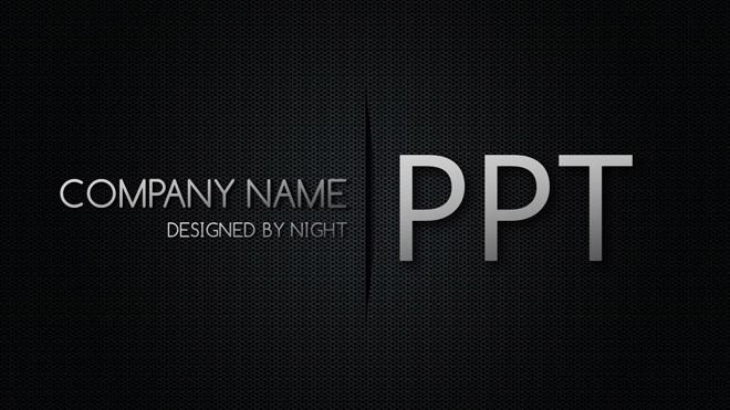 黑色网孔科技PPT背景图片