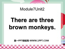 《There are three brown monkeys》PPT�n件4