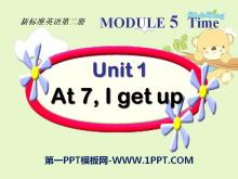 《At 7 I get up》PPT课件3