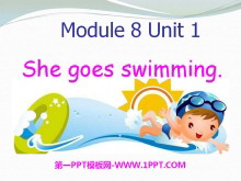 《She goes swimming》PPT课件4