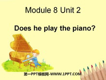 《Does he play the piano?》PPT课件2