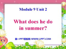 《What does he do in summer?》PPT课件2