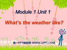 《What's the weather like?》PPT课件2