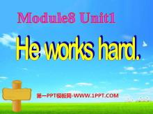 《He works hard》PPT课件3