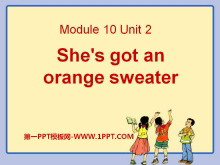 《She's got an orange sweater》PPT课件3