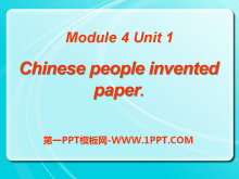 《Chinese people invented paper》PPT�n件3