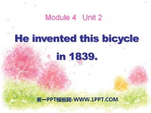 《He invented this bicycle in 1839》PPT�n件