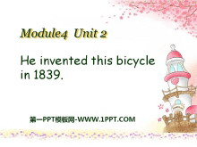 《He invented this bicycle in 1839》PPT课件2