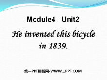 《He invented this bicycle in 1839》PPT�n件3