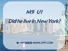《Did he live in New York》PPT�n件
