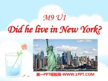 《Did he live in New York》PPT�n件4