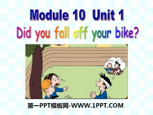 《Did you fall off your bike?》PPT�n件