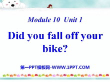 《Did you fall off your bike?》PPT�n件3
