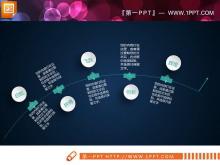 精美白色微粒体幻灯片图表整套tt娱乐官网平台