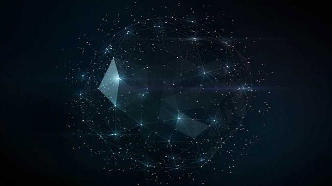抽象星空PPT背景图片免费下载