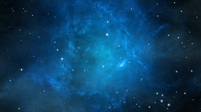 唯美蓝色星空PowerPoint背景图片