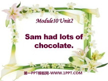 《Sam had lots of chocolates》PPT�n件