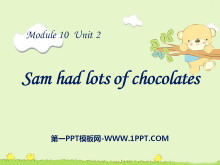 《Sam had lots of chocolates》PPT课件2