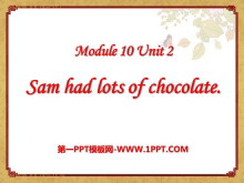 《Sam had lots of chocolates》PPT课件3