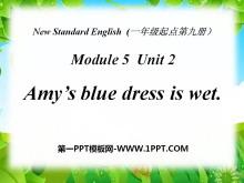《Amy's blue dress is wet》PPT课件3