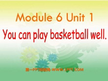 《You can play basketball well》PPT课件4
