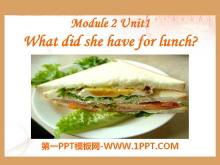 《What did she have for lunch?》PPT课件3