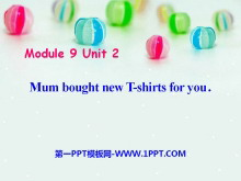 《Mum bought new T-shirts for you》PPT课件2