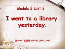 《I went to a library yesterday》PPT�n件2