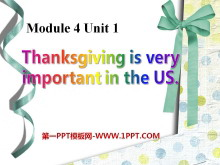 《Thanksgiving is very important in the US》PPT�n件3