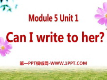 《Can I write to her》PPT课件2