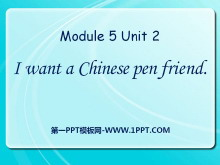 《I want a Chinese pen friend》PPT课件