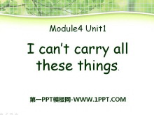 《I can't carry all these things》PPT�n件
