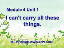 《I can't carry all these things》PPT�n件2