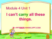 《I can't carry all these things》PPT�n件3