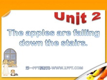 《The apples are falling down the stairs》PPT�n件3