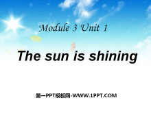 《The sun is shining》PPT�n件6