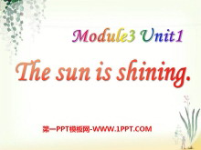 《The sun is shining》PPT�n件7
