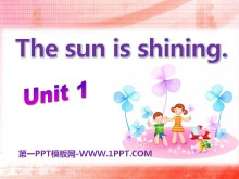《The sun is shining》PPT�n件8