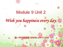 《Wishing you happiness every day》PPT�n件4