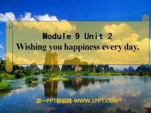 《Wishing you happiness every day》PPT�n件5