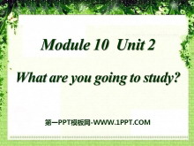 《What are you going to study?》PPT�n件3