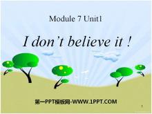 《I don't believe it》PPT课件2